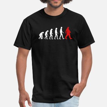 Obesity Fat Evolution - Walking Fat - Funny Humor-Dad Gift - Men's T-Shirt