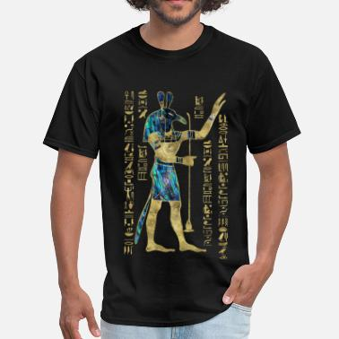 Ancient Egypt Egyptian Seth Ornament Gold and Abalone - Men's T-Shirt