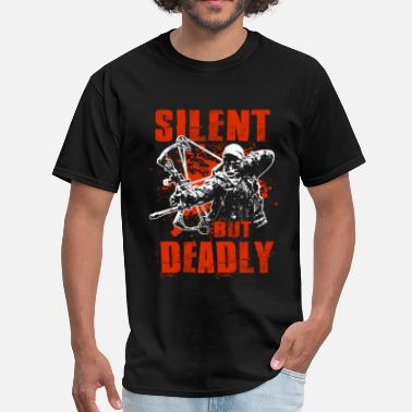 Bow Bowhunting - Silent But Deadly - Men's T-Shirt