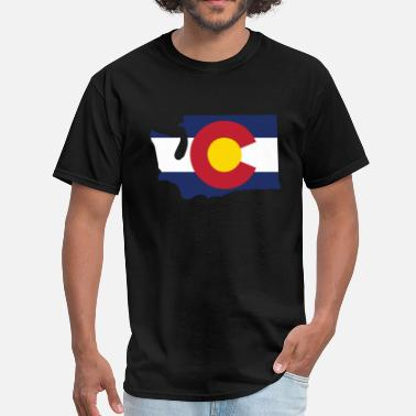 Cute Colorado Clothing Washington Colorado Funny Pride Flag Apparel - Men's T-Shirt