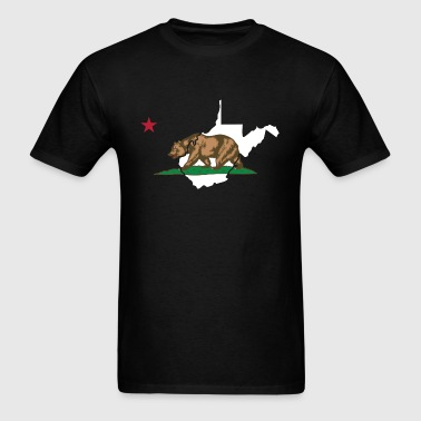 West Virginia California Funny Pride Flag Apparel - Men's T-Shirt