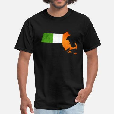 Cool Irish Apparel Cool Irish Flag Massachusetts  - Men's T-Shirt