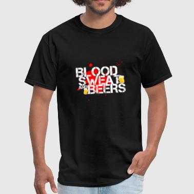 blood, sweat and beer - Men's T-Shirt