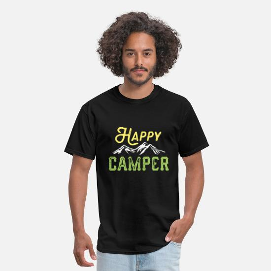 Camper T-Shirts - Happy Camper - Men's T-Shirt black
