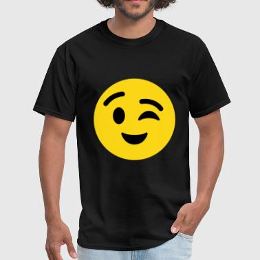 Winky Face Emoticon - Men's T-Shirt