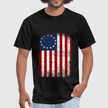 1776 USA 13 Star 1776 Flag - Men's T-Shirt