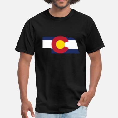 Cute Colorado Clothing Nebraska Colorado Funny Pride Flag Apparel - Men's T-Shirt