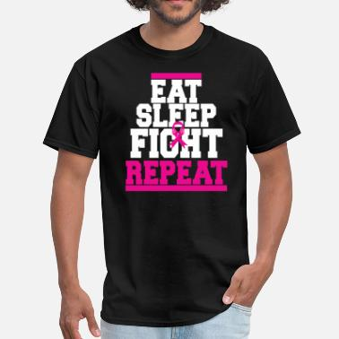 Breast Eating EAT SLEEP BREAST CANCER - Men's T-Shirt