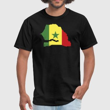 Senegal Flag Map - Men's T-Shirt