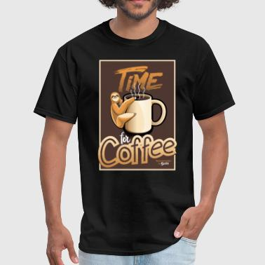 Lazy Time Sloth- Coffee Time - Men's T-Shirt
