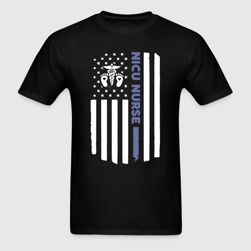 NICU Nurse Flag - Men's T-Shirt