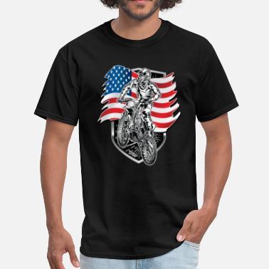 11d7025e Usa Rebel Flag Motocross USA Flag - Men's T-Shirt