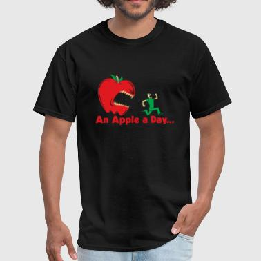 Apple Joke An Apple Day - Men's T-Shirt