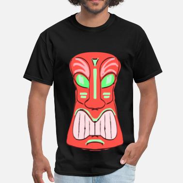 Tiki Bar Red Tiki - Men's T-Shirt