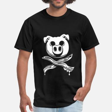 Crossed Bacon Pig Bacon Cross Bones Pirate - Men's T-Shirt