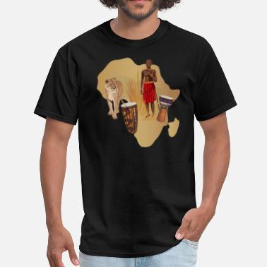 Masai African Heritage With Map - Men's T-Shirt