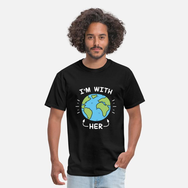 Day T-Shirts - I'm With Her - Men's T-Shirt black