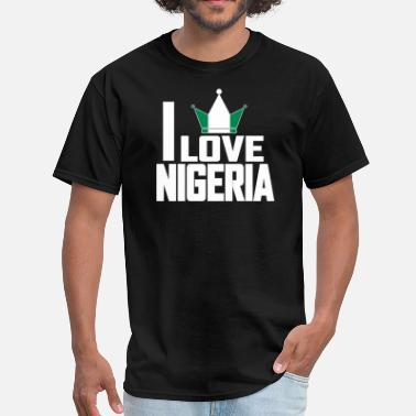 I Love Nigeria I LOVE NIGERIA - Men's T-Shirt
