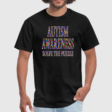 Autism Awareness Solve The Puzzle - Men's T-Shirt