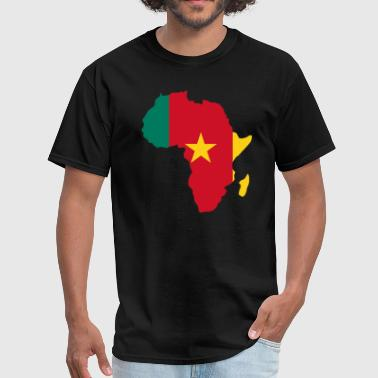 Cameroon Flag Africa Map - Men's T-Shirt