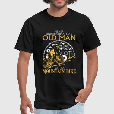 Never Underestimate An Old Man With A Mountain Bike Mountain Bike Shirt - Men's T-Shirt