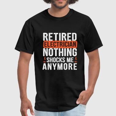 Jobs - Retired Electrician - Men's T-Shirt