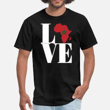 Morocco Pride I LOVE MOROCCO - Men's T-Shirt