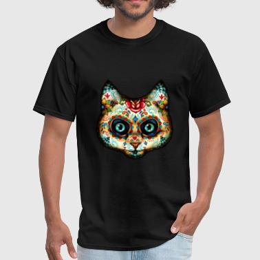 Day of Dead Cat - Men's T-Shirt