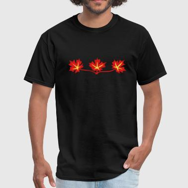 Calgary Rocky Mountains Red Maple Leaves Canadian Standard Symbol - Men's T-Shirt