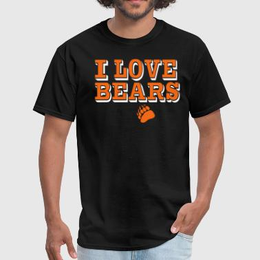 Bear Love & Sex I LOVE BEARS - Men's T-Shirt