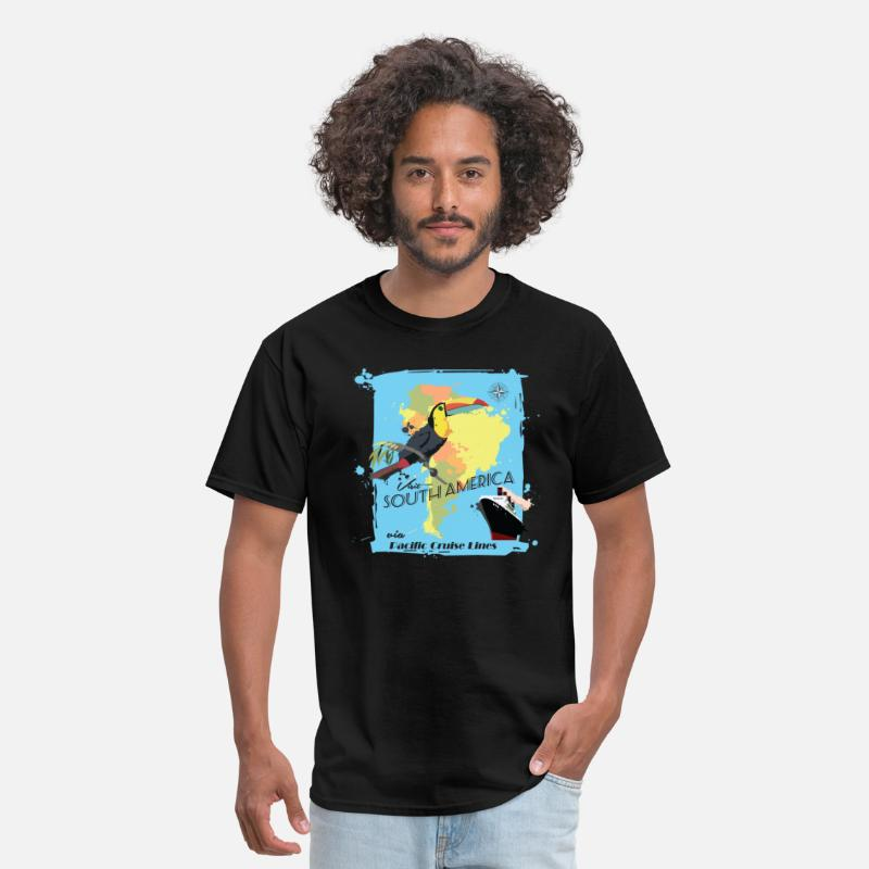 South America T-Shirts - Travel South America - Men's T-Shirt black