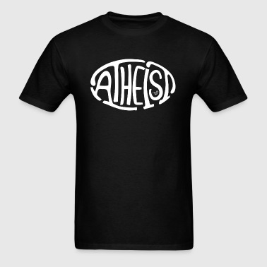 atheist_oval_white - Men's T-Shirt