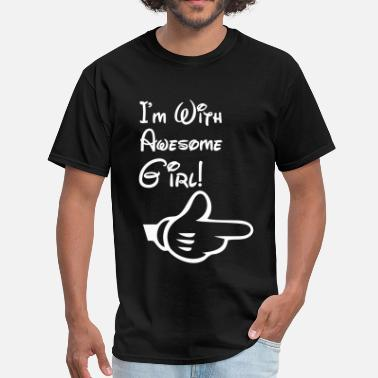 i'm with awesome girl - Men's T-Shirt