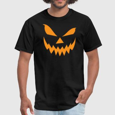 Scary Jack-O-Lantern Face - Men's T-Shirt