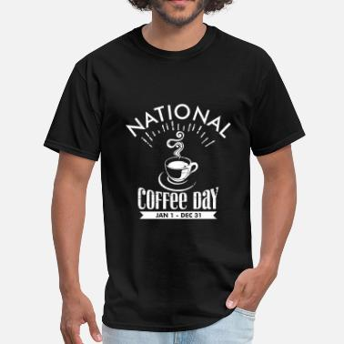 National Day Vintage National Coffee Day - Men's T-Shirt