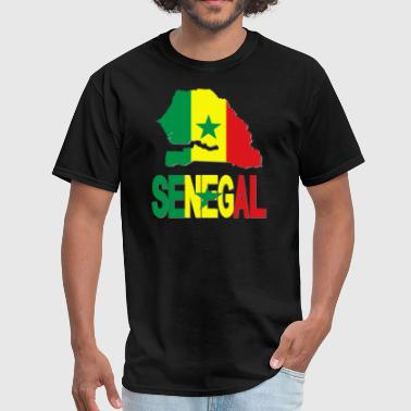 Senegal Flag Africa Map - Men's T-Shirt