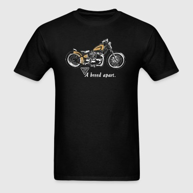 classic triumph vintage motorcycle 70's old school - Men's T-Shirt