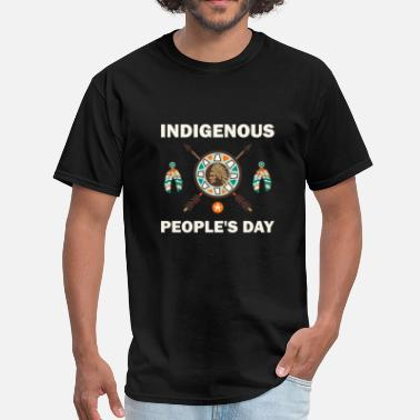 Wheel Indigenous People's Day Native American Pride T- - Men's T-Shirt