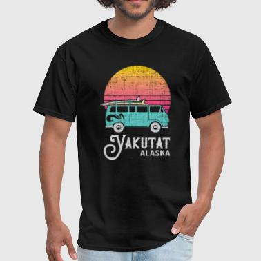 Alaska Designs YAKUTAT ALASKA Scaled Design - Men's T-Shirt