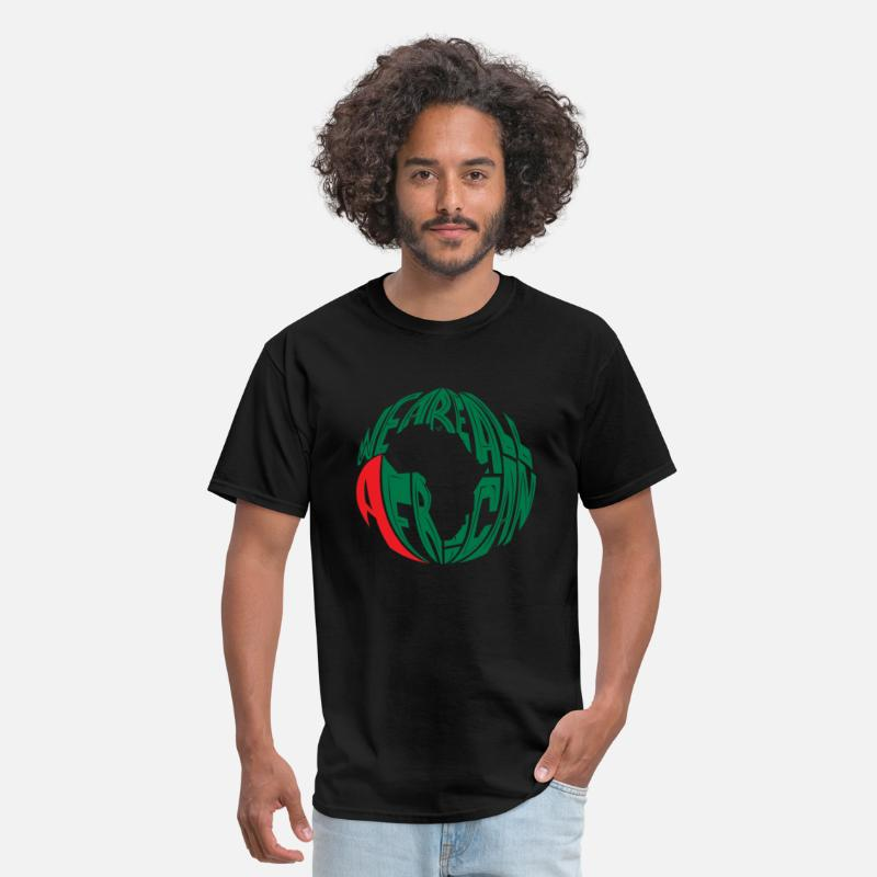 Religion T-Shirts - WE ARE ALL AFRICAN by Tai's Tees - Men's T-Shirt black