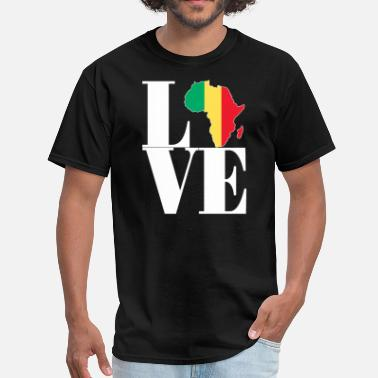 Africa Map Designs I LOVE MALI AFRICA MAP - Men's T-Shirt