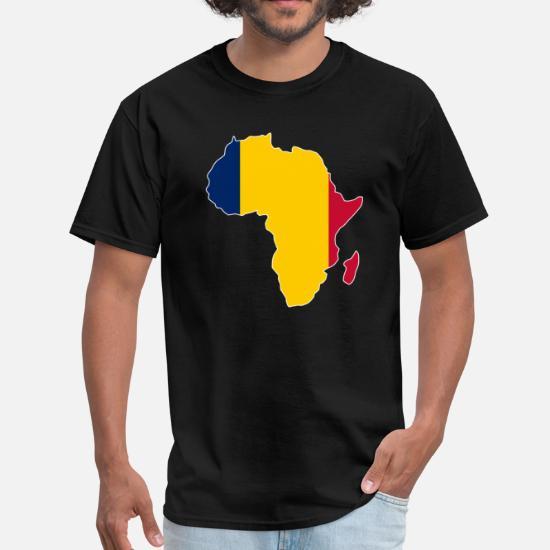 c682c515 Chad Flag Africa Map Men's T-Shirt | Spreadshirt