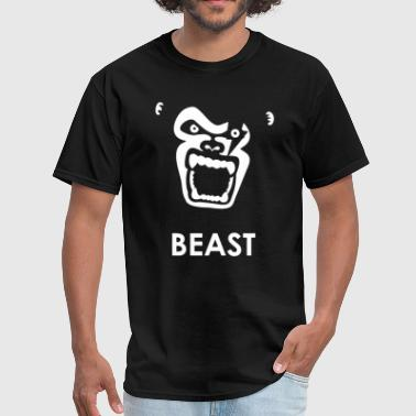 Gorilla The Beast Instinct Attention Gorilla Beast - Men's T-Shirt