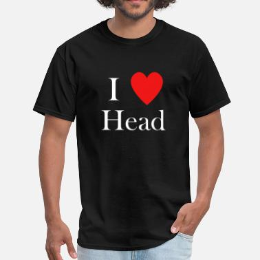 I Love Head Heart i love head heart - Men's T-Shirt