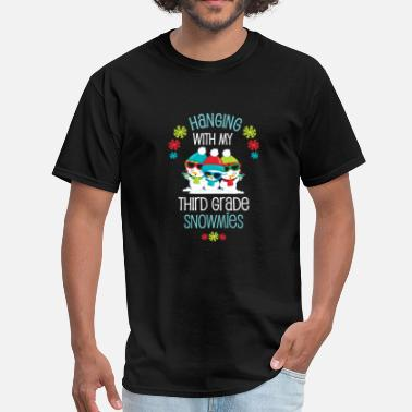 3rd Grade Teacher Student Winter Christmas Third Grade Snowmies Holiday Gift - Men's T-Shirt
