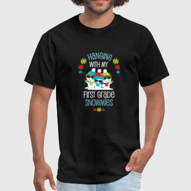 Light Teacher Student Winter Christmas First Grade Snowmies Holiday Gift - Men's T-Shirt