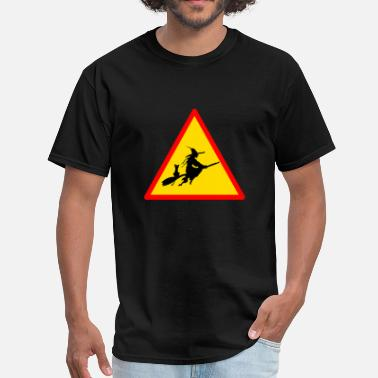 Banned Sign Halloween witches ban sign fun - Men's T-Shirt