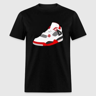 Shop jordan sneaker t shirts online spreadshirt for Kicks on fire t shirt