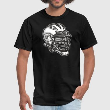 LaX Helmet White - Men's T-Shirt