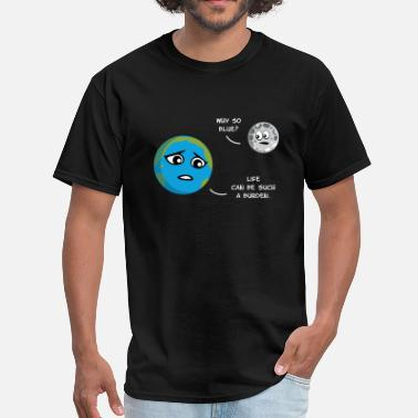 Earth Moon Earth & Moon - Men's T-Shirt